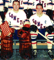 Eastern Hockey League  - Clinton Comets Home Uniform - Ed Babiuk & Jack Kane
