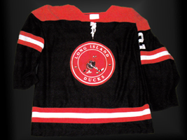 Eastern Hockey League - Long Island Ducks  Dark Jersey - Earmuffed Duck Logo