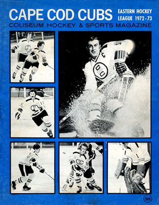 Cape Cod Cubs Program 1972-73 TheEHL.com