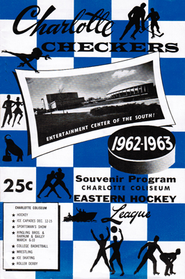 Charlotte Checkers Program 1962-63