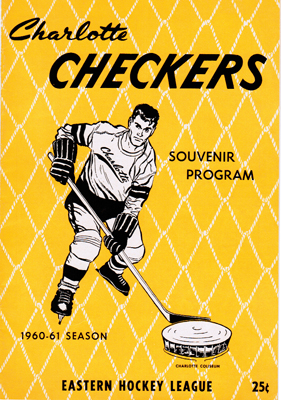 Charlotte Checkers Program 1960-61