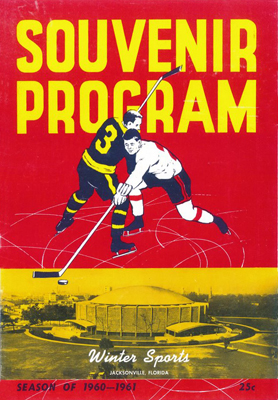 Jersey Larks vs. Charlotte Checkers at Jacksonville, January 9, 1961 First game in Florida