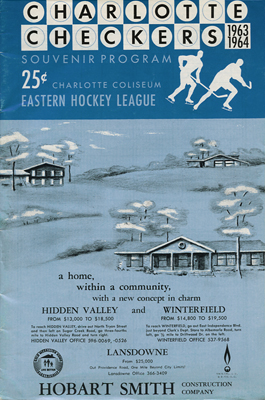 Charlotte Checkers Program 1963-64