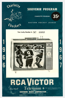 Charlotte Checkers Program 1966-67