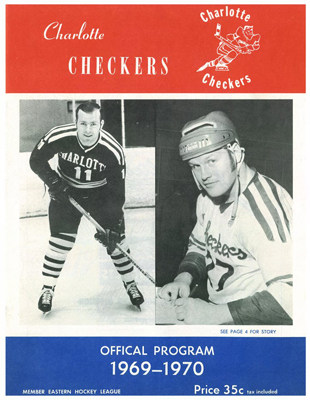 Charlotte Checkers Program 1969-70 - Click to Enlarge