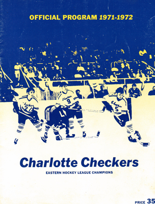 Charlotte Checkers Program 1971-72 Finals vs. Syracuse - Click to Enlarge