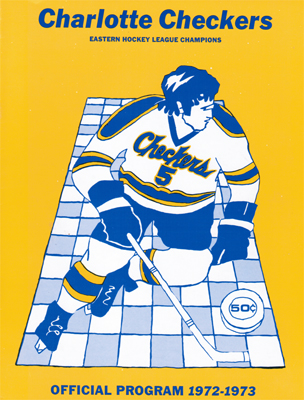 Charlotte Checkers Program 1972-73