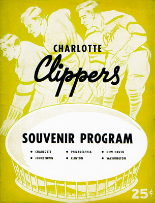 Charlotte Clippers Program 1957-58