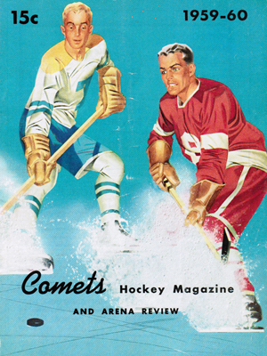 Clinton Comets Program 1959-60 Eastern Hockey League