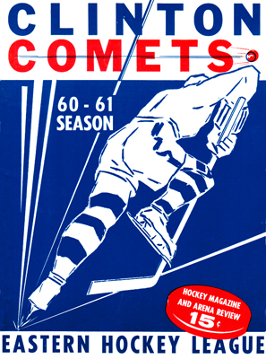 Clinton Comets Program 1960-61 - Eastern Hockey League
