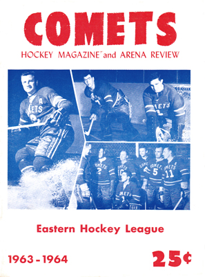 Clinton Comets Program 1963-64 -  Eastern Hockey League - Click to Enlarge