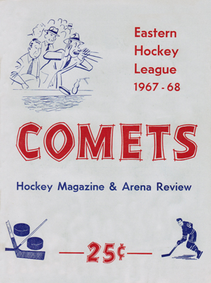 Clinton Comets Program 1967-68 Eastern Hockey League - Click to Enlarge