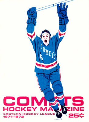 Clinton Comets Program 1970-71- Eastern Hockey League - Click to Enlarge