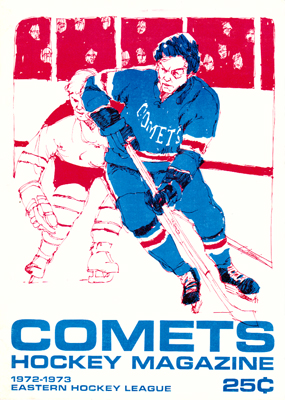 Clinton Comets Program 1972-73- Eastern Hockey League - Click to Enlarge
