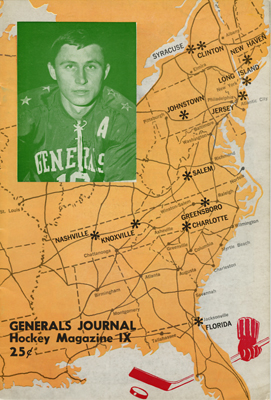Greensboro Generals Program 1967-68 Kas Lysionek