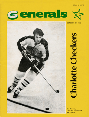 Greensboro Generals Program 1972-73 Stu Roberts