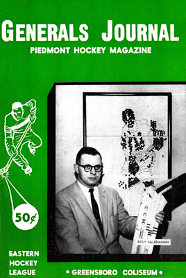 Greensboro Generals 1959-60 Program - EHL - Click to Enlarge