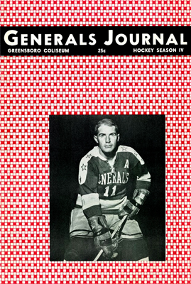 Greensboro Generals 1962-63 Program - EHL - Click to Enlarge