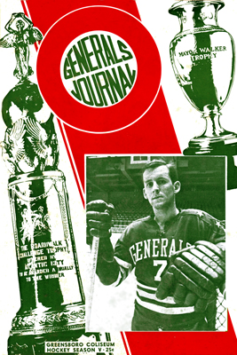 Greensboro Generals 1963-64 Program - Harvey Turnbull - EHL - Click to Enlarge