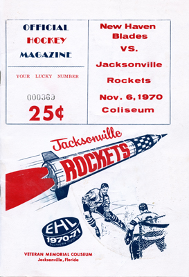 Jacksonville Rockets Program  1970-71  TheEHL.com