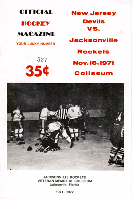 Jacksonville Rockets Program 1971-72 Eastern Hockey League EHL