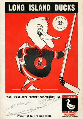 Long Island Ducks Program 1962-63 TheEHL.com