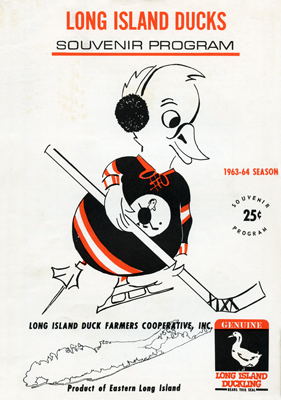 Long Island Ducks Program  1963-64  TheEHL.com