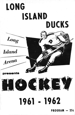 Long Island Ducks Program 1961-61 Eastern Hockey League EHL