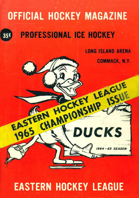 Long Island Ducks Program 1964-65 Playoffs - Eastern Hockey League