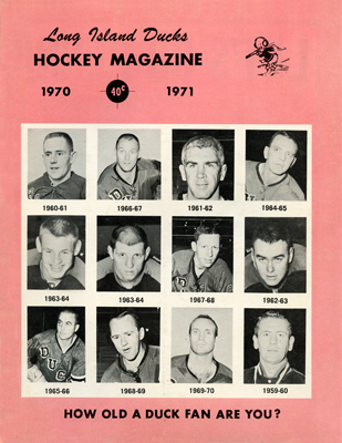 Long Island Ducks Program 1970-71 Eastern Hockey League