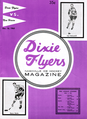 Nashville Dixie Flyers Program 1965-66