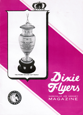 NAshville Dixie Flyers Program 196667 Finals v Jersey Eastern Hockey League EHL