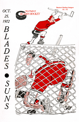 New England Blades 1972-73 Program - Click to Enlarge