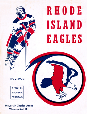 Rhode Island Eagles Program 1972-73 Eastern Hockey League EHL