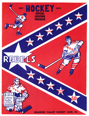 Roanoke Valley Rebels Program 1971-72 Eastern Hockey League EHL