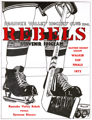 Roanoke Valley Rebels Program 1972-73 vs Syracuse Eastern Hockey League EHL