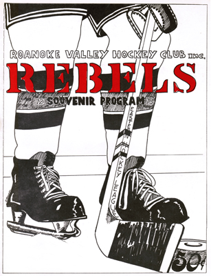 Roanoke Valley Rebels Program 1972-73 Eastern Hockey League EHL