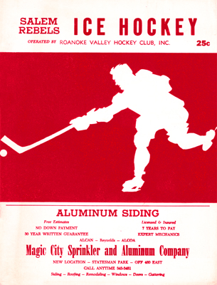 Roanoke Valley Rebels Program 1967-68