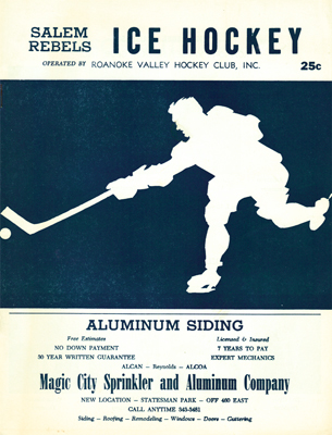 Salem Rebels Program 1968-69 Eastern Hockey League EHL