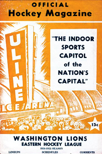 Washington Lions 1954-55 Program