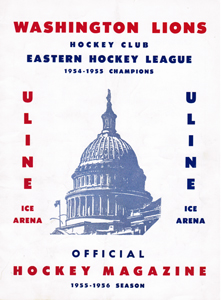 Washington Lions Program 1955-56