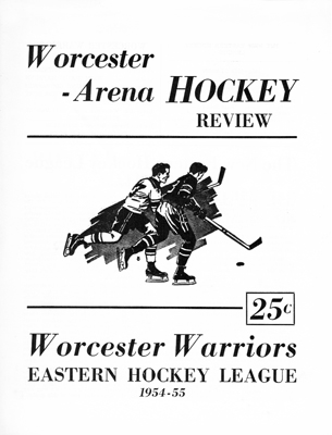 Worcester Warriors Program 1954-55 January 4, 1955 vs. New Haven